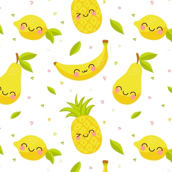 Motif de fruits colorés