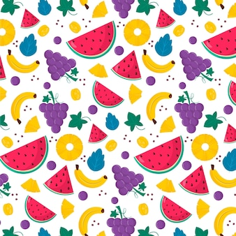 Motif de fruits colorés