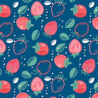 Motif de fruits avec des fraises