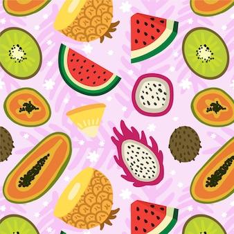 Motif de fruits avec pastèque