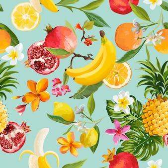 Motif de fruits tropicaux sans soudure