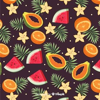 Motif de fruits tropicaux