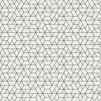 Motif de géométrie en forme d'hexagone