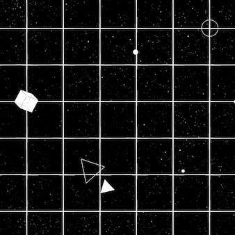Motif géométrique 3d sans couture sur fond noir