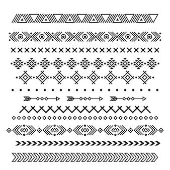 Motif géométrique abstrait d'art indigène ethnique américain.