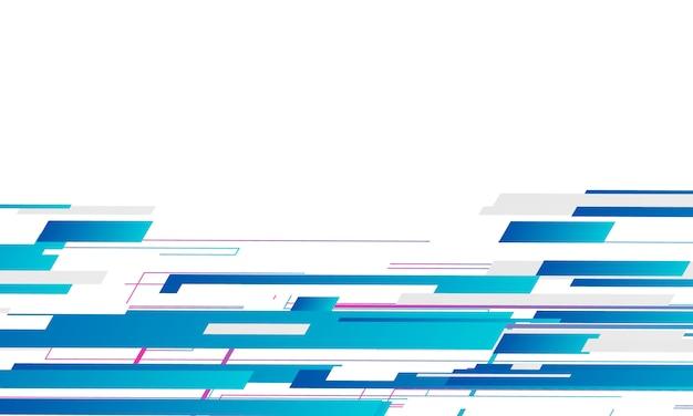 Motif géométrique abstrait bleu et fond