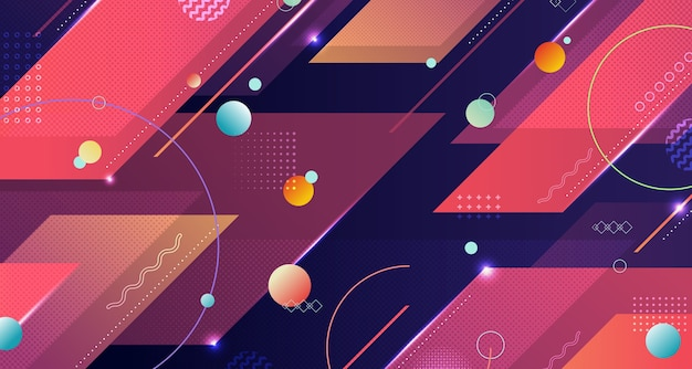 Motif géométrique abstrait de fond d'oeuvre de style tech motif coloré.