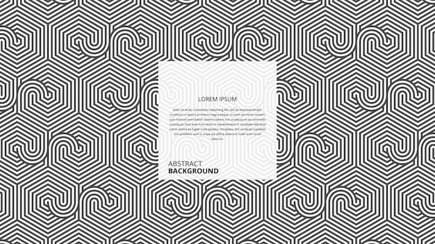 Motif géométrique abstrait de lignes circulaires hexagonales