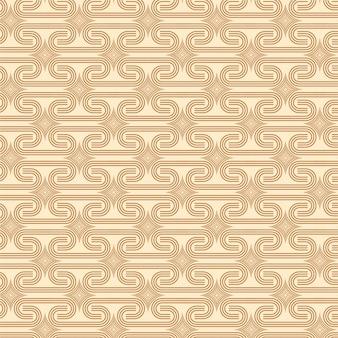 Motif géométrique abstrait avec lignes ovales et conception d'élément de courbe de rayures.