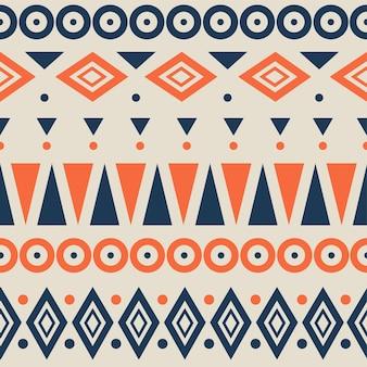 Motif géométrique abstrait. motifs ethniques et tribaux. éléments orange, jaune, bleu sur un fond. illustration vectorielle continue.
