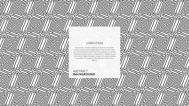 Motif géométrique abstrait rayures polygonales carrées