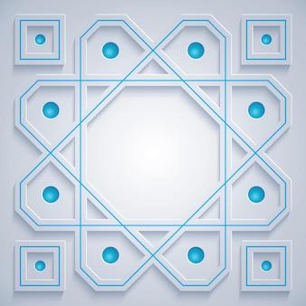 Motif géométrique arabe.