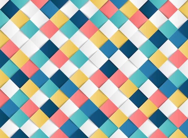 Motif géométrique carré coloré abstrait