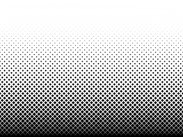 Motif géométrique de carrés noirs sur blanc