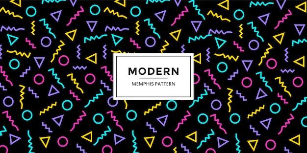 Motif géométrique coloré de memphis abstrait