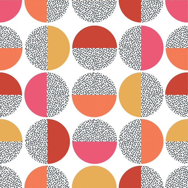 Motif géométrique coloré. mid century modern seamless print.