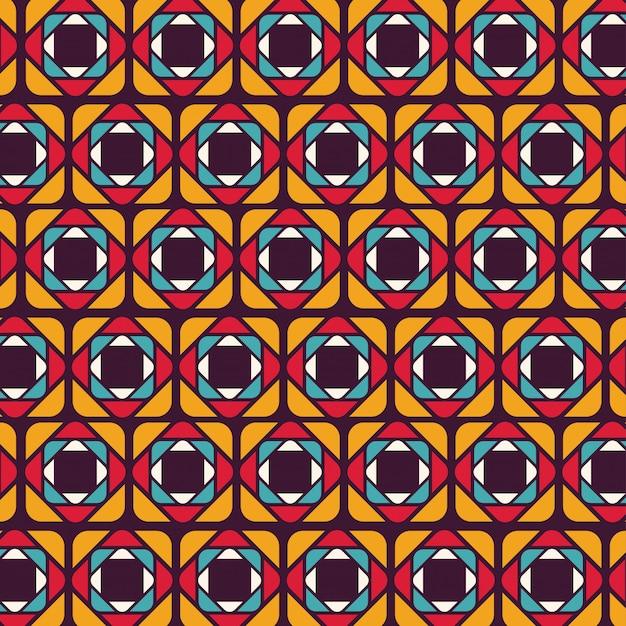Motif géométrique coloré