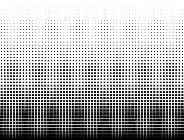 Motif géométrique dégradé de carrés noirs