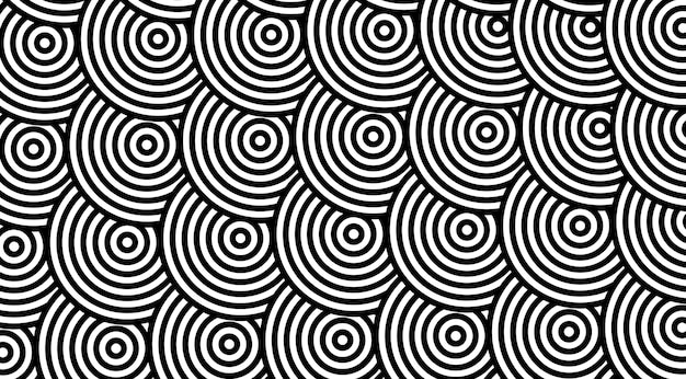 Motif géométrique avec dessin vectoriel de cercles dépouillés.