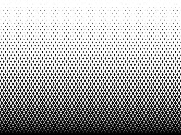 Motif géométrique de diamants noirs