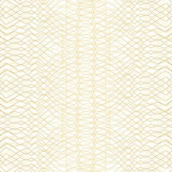 Motif géométrique doré sur fond blanc. illustration vectorielle.