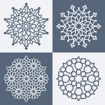 Motif géométrique élégant arabe