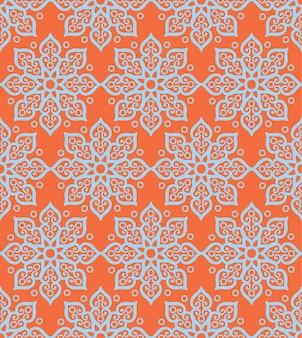 Motif géométrique floral abstrait.