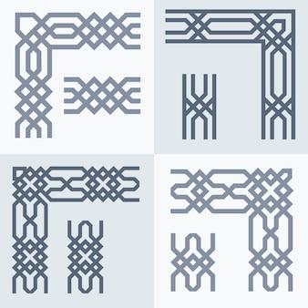 Motif géométrique de frontière arabe