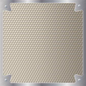 Motif géométrique d'hexagones