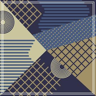 Motif géométrique hipster avec des couleurs douces