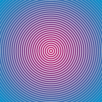 Motif géométrique hypnotique. illustration de style créatif et élégant