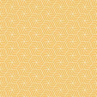 Motif géométrique jaune et blanc