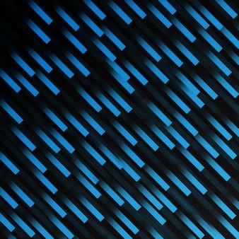 Motif géométrique de ligne abstraite bande bleue