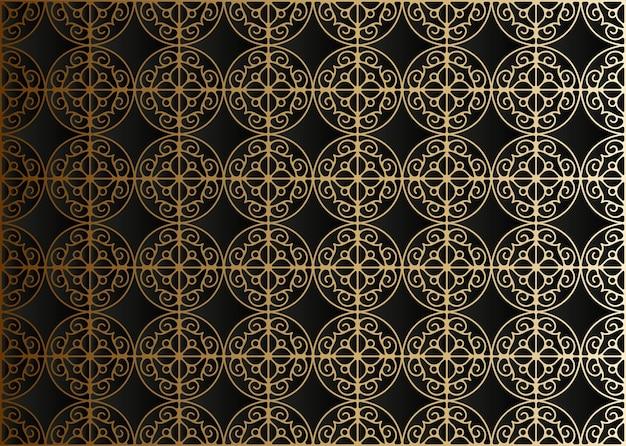 Motif géométrique de ligne or foncé