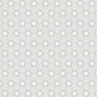 Motif géométrique de la ligne pentagonale abstraite