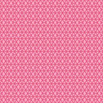 Motif géométrique linéaire rose vif avec hexagone et losange