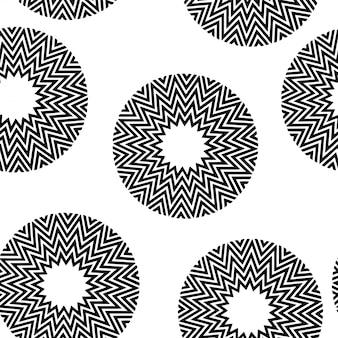 Motif géométrique minimal noir et blanc