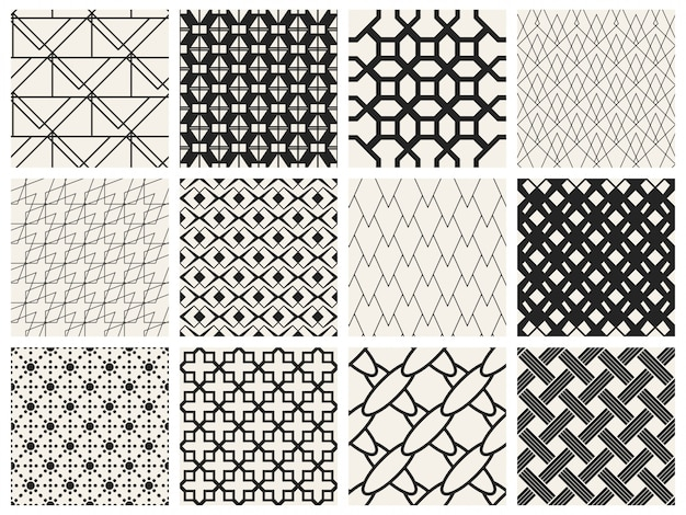 Motif géométrique monochrome.