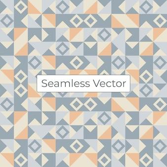 Motif géométrique en mosaïque colorée