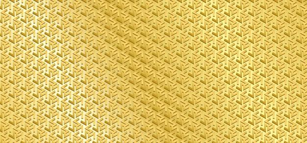 Motif géométrique de motif européen doré