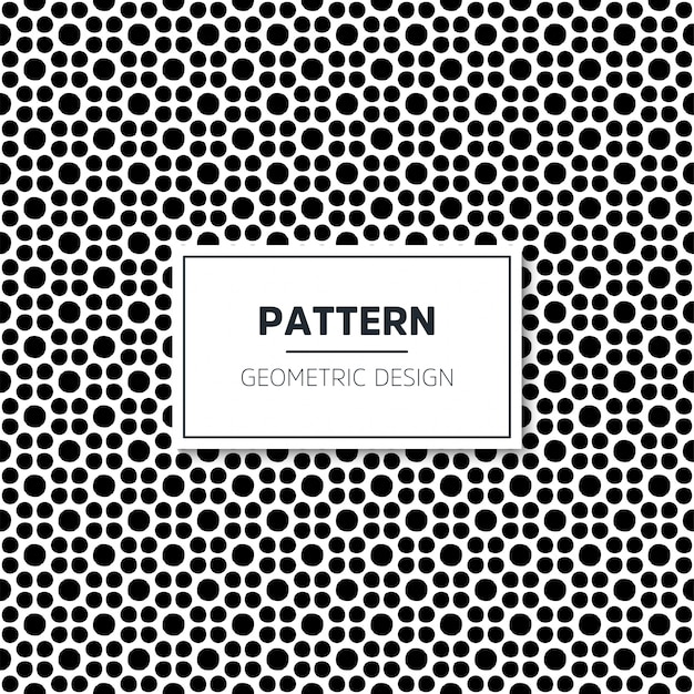 Motif géométrique noir et blanc sans couture