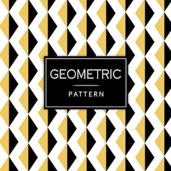 Motif géométrique noir et or de memphis