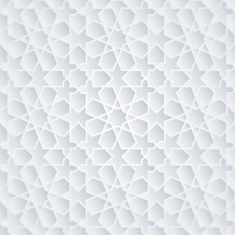 Motif géométrique d'ornement arabe maroc