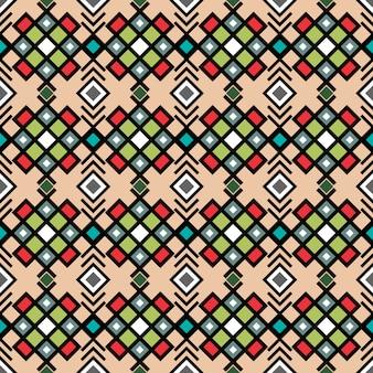 Motif géométrique ornement décoratif en couleurs vitnage, illustration vectorielle