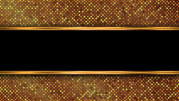 Motif géométrique de paillettes d'or. design de luxe. contexte