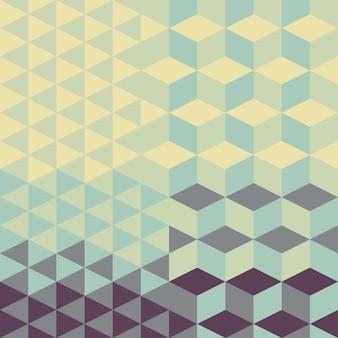 Motif géométrique rétro abstrait