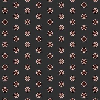 Motif géométrique rond sans soudure