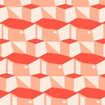 Motif géométrique rose et rouge