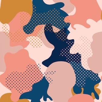 Motif géométrique sans couture avec camouflage abstrait