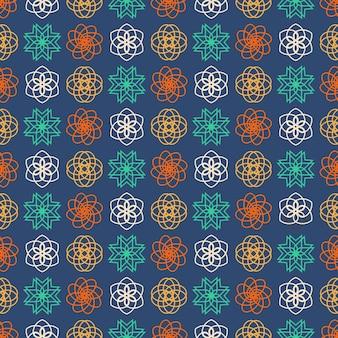 Motif géométrique sans couture, conception graphique hexagonale géométrique abstraite